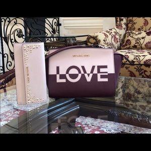 NWT Michael Kors md messenger Selma handbag&wallet
